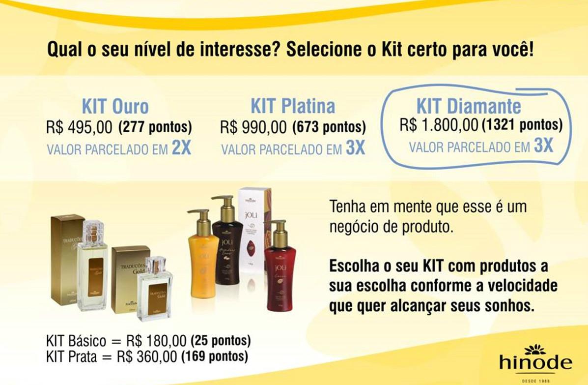 Adquira seu kit agora e comece a fazer sucesso cadastre no ID 96036 www.hinode.com.br