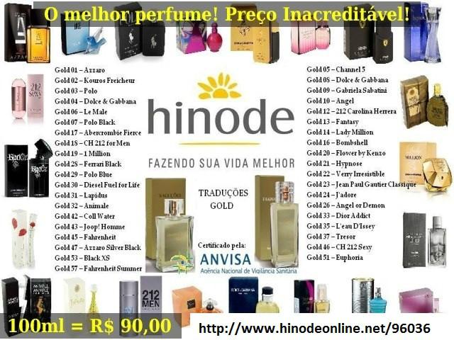 Adquira seu perfume importado favorito no site: www.hinodeonline.net/96036