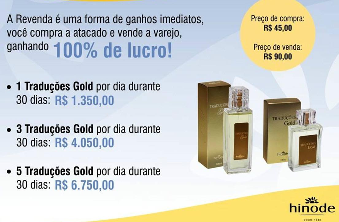 Ganhe 100% nas vendas de perfumes e cosméticos a única cadastre-se no ID 96036 www.hinode.com.br