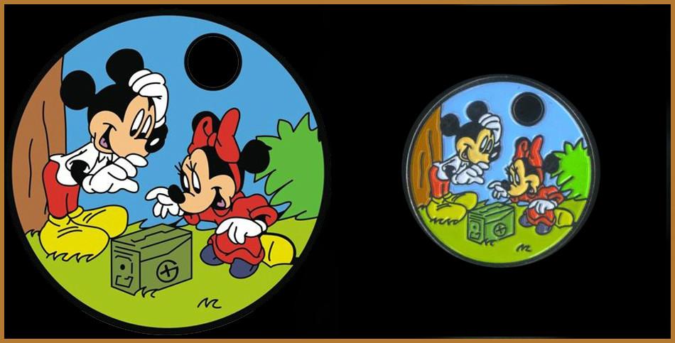 Mickey e Minnie fazem geocaching