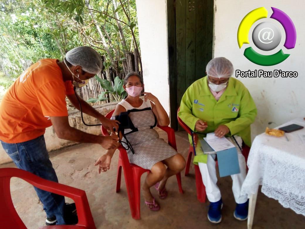 Equipe do ESF de Pau D'arco do Piauí realiza visita domiciliar