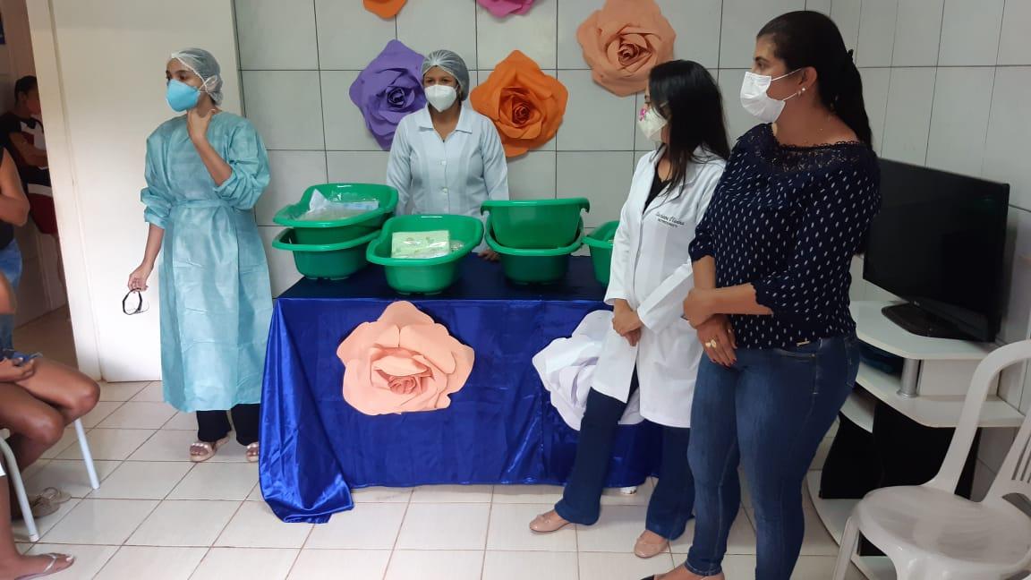 Secretaria de Assistência Social e Sec. Municipal de Saúde realiza entrega de enxovais para gestantes na Zona Rural do Munícipio