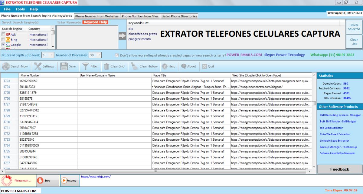 Whatsapp Number Extractor