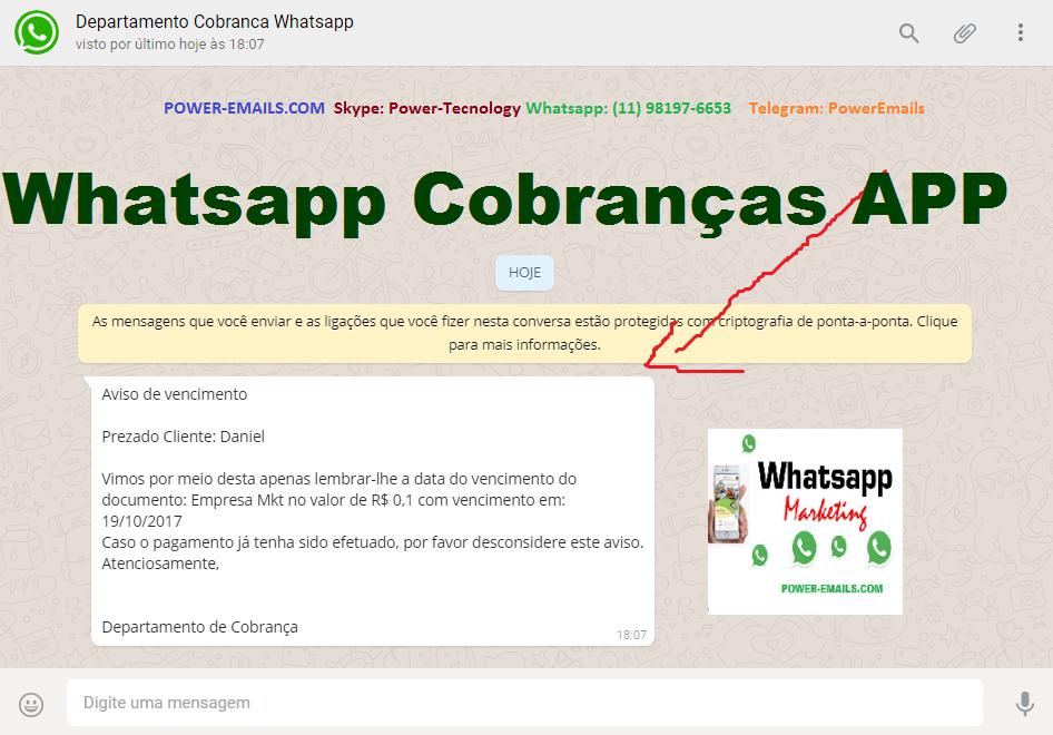 Software Whatsapp App Cobranças