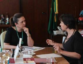 Ministras Kátia Abreu e Tereza Campello