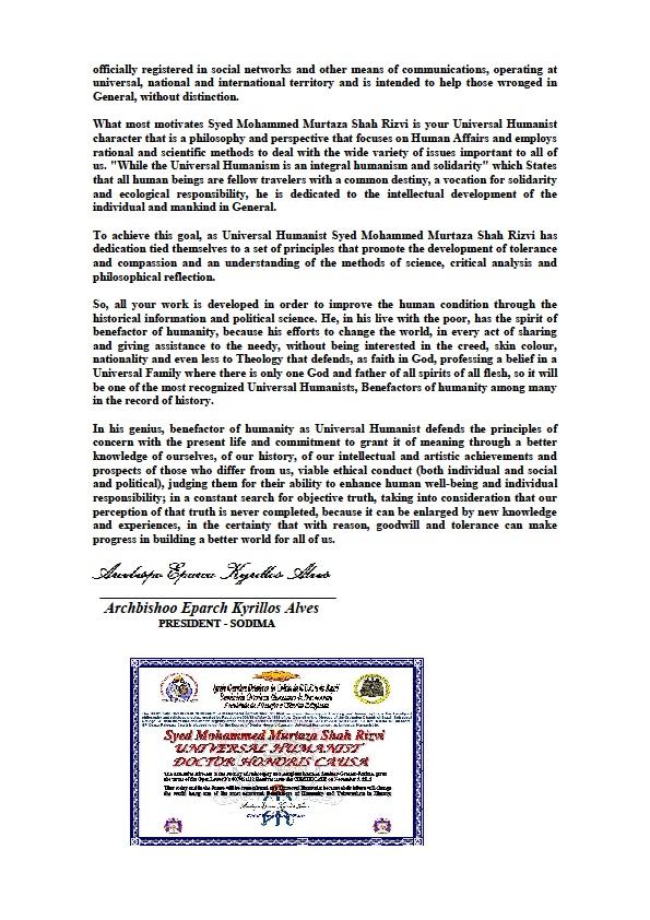 Carta Aberta DHC Syed Murtaza Shah nº 2