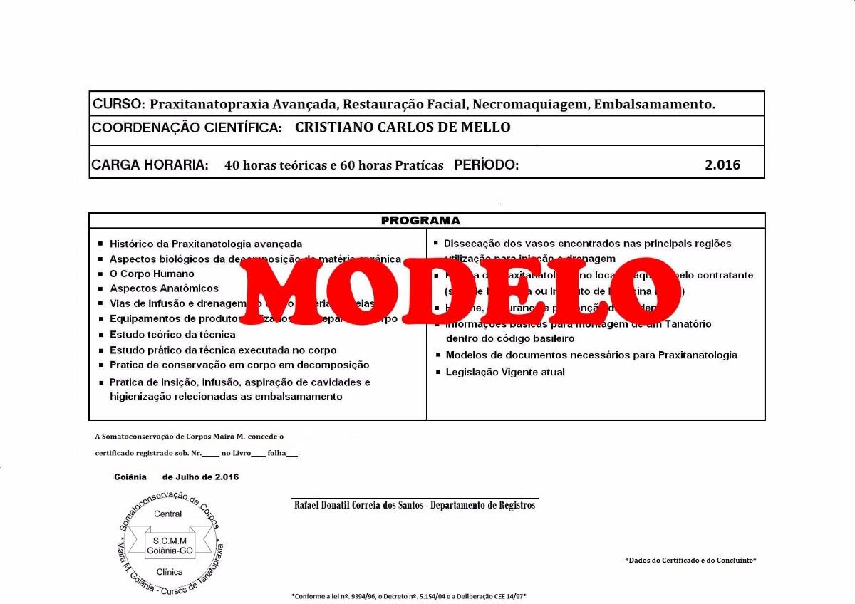 Certificado de Tanatopraxia