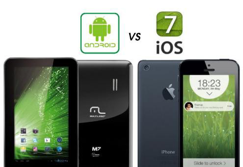 android vs ios7