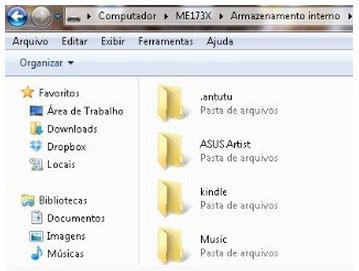 transferir músicas e vídeos para o tablet