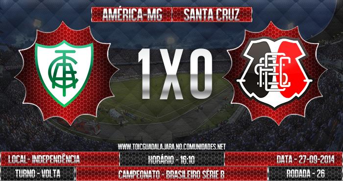 América-MG 1x0 SANTA CRUZ