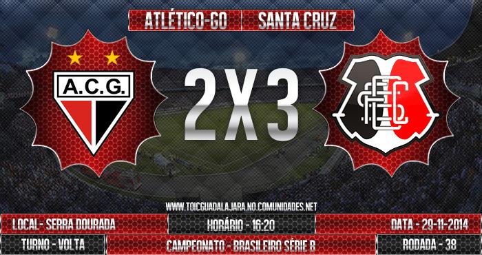 Atlético-GO 2x3 SANTA CRUZ