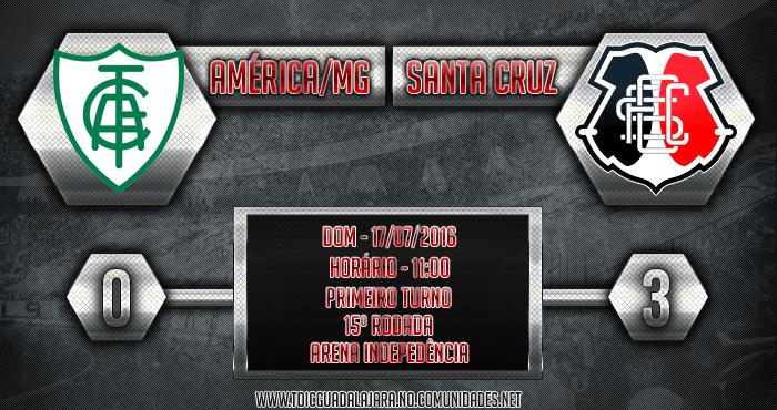 América/MG 0x3 SANTA CRUZ