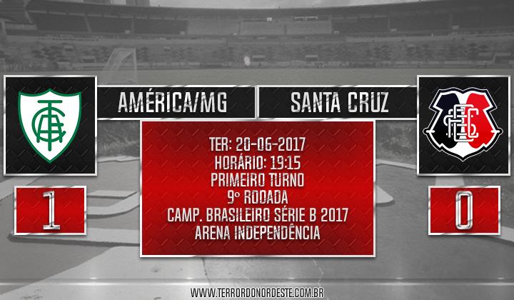 América/MG 1x0 SANTA CRUZ