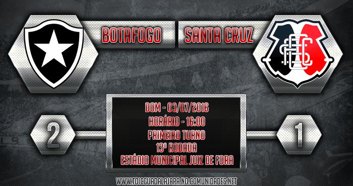 Botafogo 2x1 Santa Cruz