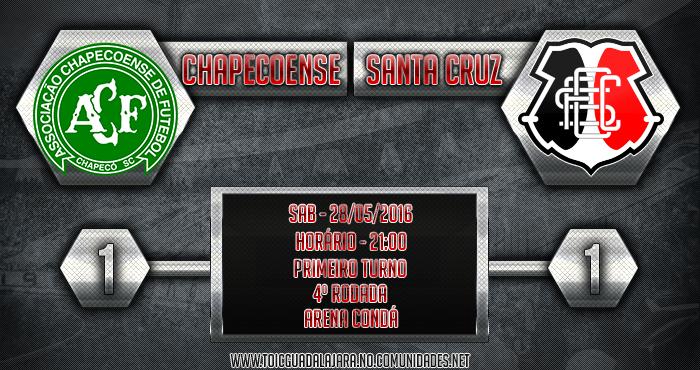 Chapecoense 1x1 Santa Cruz