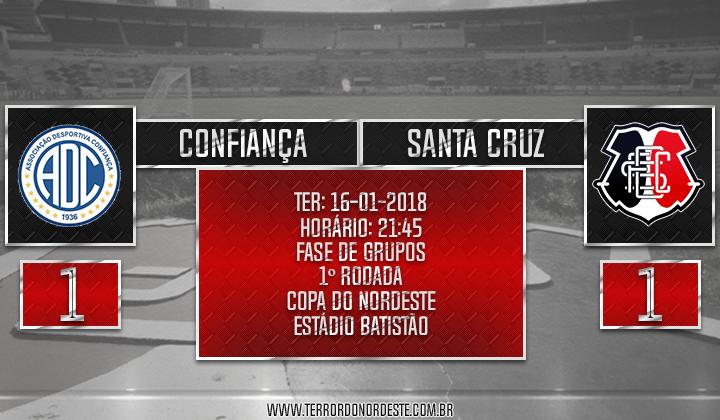 Confiança 1x1 Santa Cruz