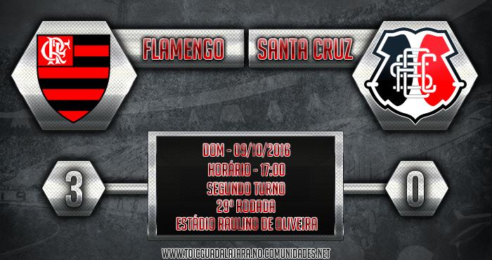 Flamengo 3x0 SANTA CRUZ