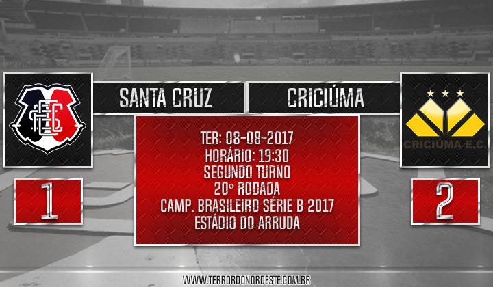 SANTA CRUZ 1x2 Criciúma