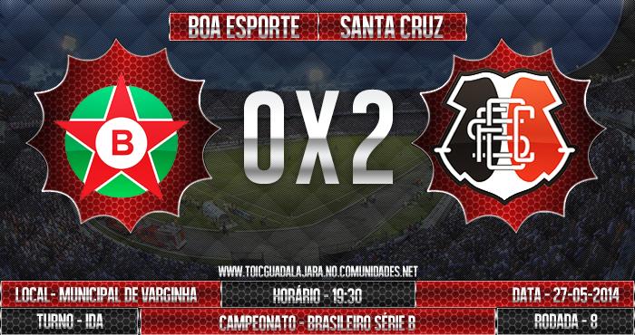 Boa Esporte 0x2 SANTA CRUZ