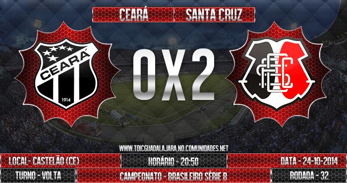 Ceará 0x2 SANTA CRUZ