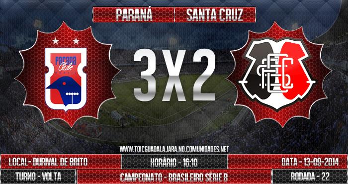 Paraná 3x2 SANTA CRUZ