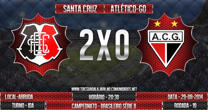 SANTA CRUZ 2x0 Atlético-GO