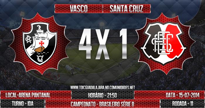 Vasco 4x1 SANTA CRUZ