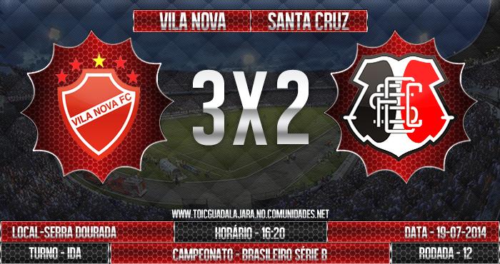 Vila Nova 3X2 SANTA CRUZ