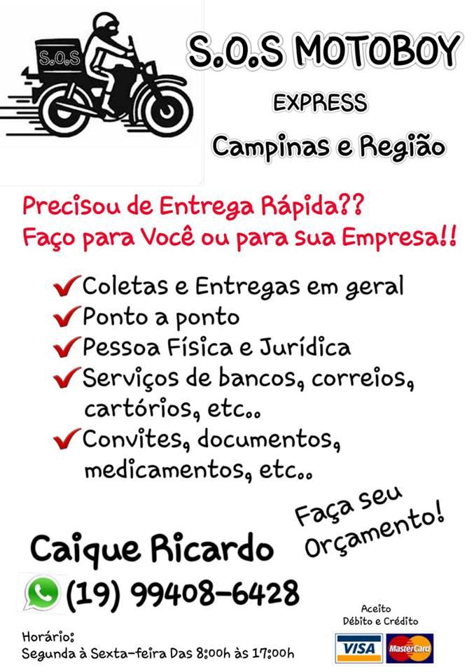 Serviços De Entregas Rápidas Campinas - Motoboy