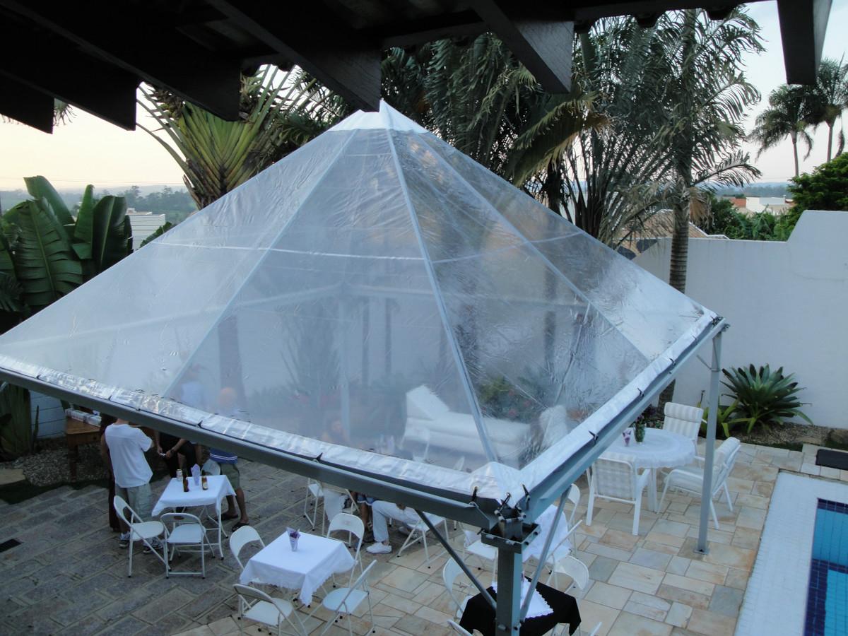 Locação de tendas transparente Campinas