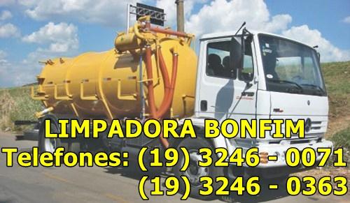 Empresa Limpadora Bonfim, Caminhão Limpa Fossa Em Campinas