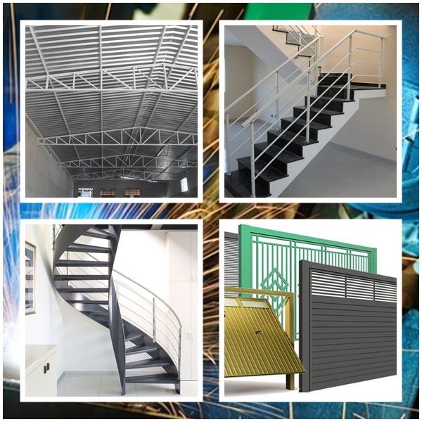 Montagem De Escada Caracol De Ferro Campinas, Cobertura Metálica, Corrimão, Grades E Portão