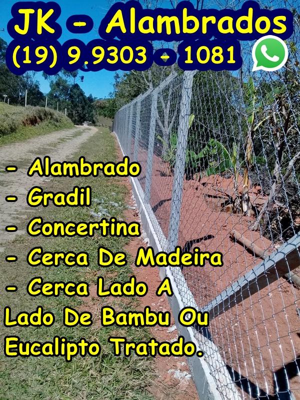 Instalação. Montagem, Alambrados, Gradil, Concertina, Cerca De Madeira, Cerca Lado A Lado, Bambu, Eucalipto Tratado, Campinas - São Paulo