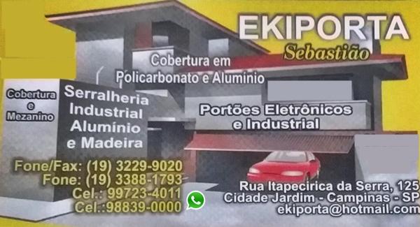 Automação De Portão Eletrônico, Cobertura De Policarbonato Em Campinas