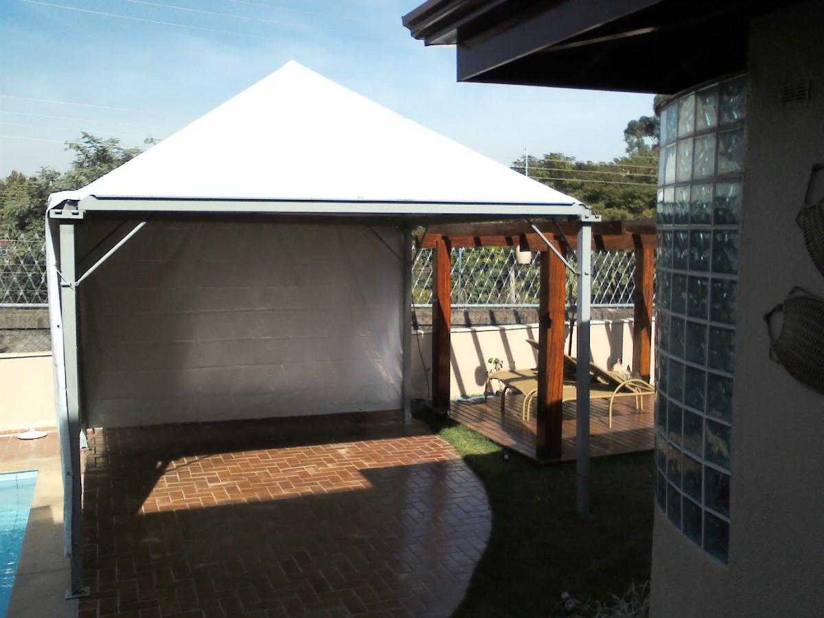 Aluguel locação de tendas com fechamento saia Campinas