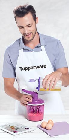Até o papai já sabe que o Speedy Chef Tupperware é mais rápido, que uma batedeira comum!