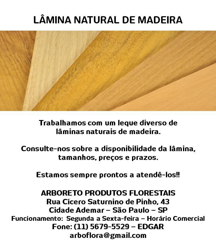 lâminas de madeira natural