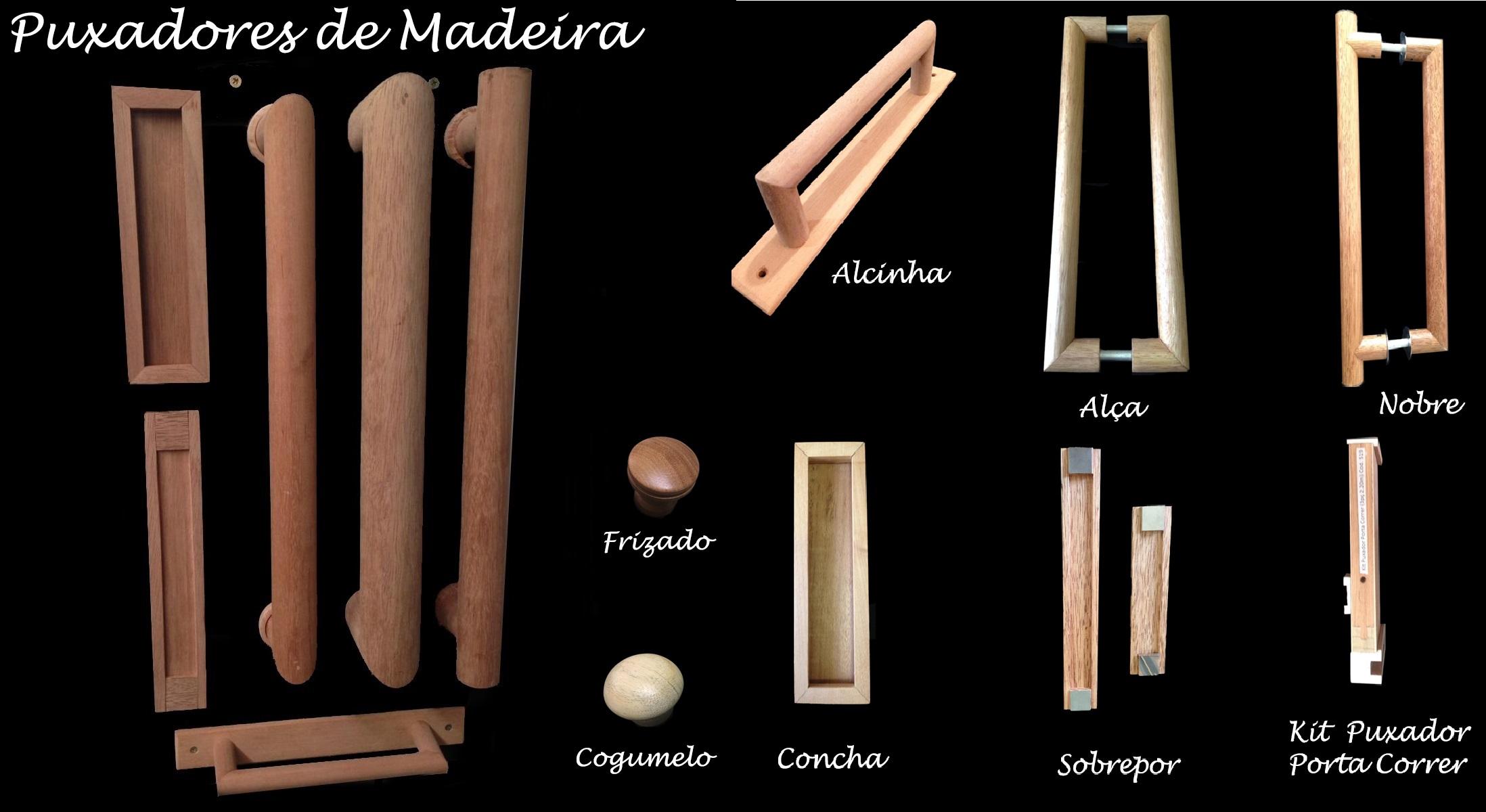 puxadores de madeira