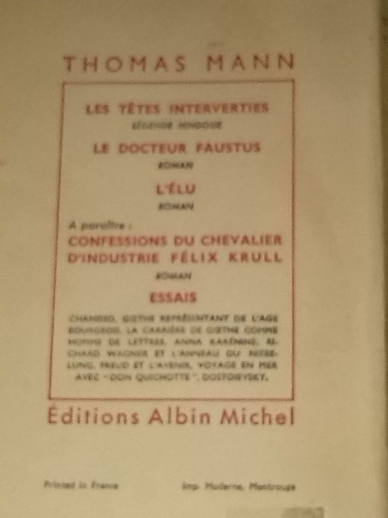 Le Mirage, édition de 1954