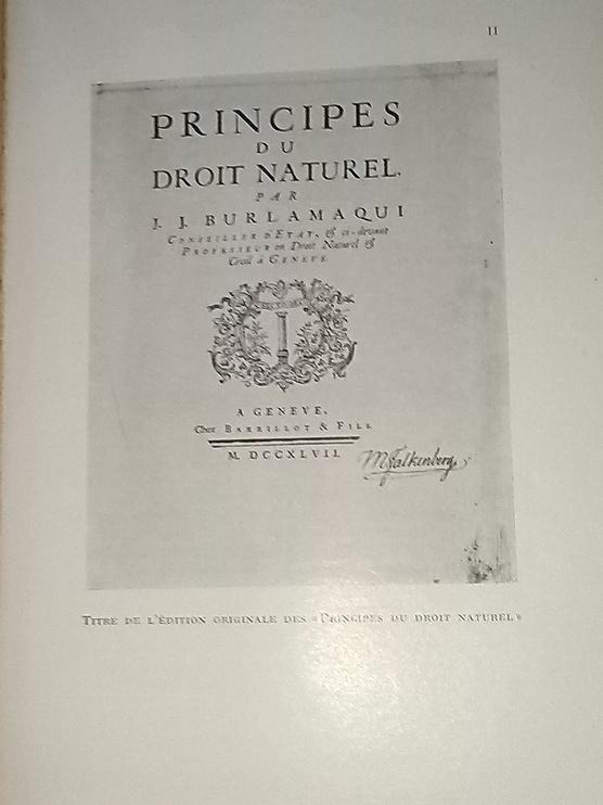 Burlamaqui et Le Droit Naturel, chez Zappandoo.