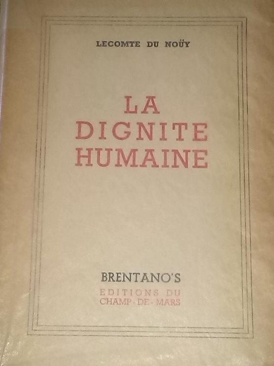 La Dignité Humaine. Edition de 1948