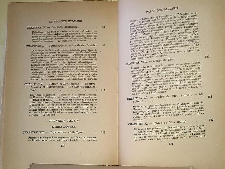 La Dignité Humaine. Une édition de 1948