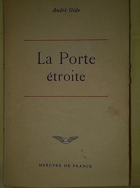 La porte étroite édition de 1959