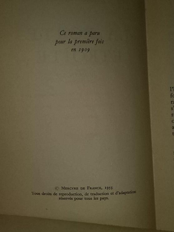 La porte étroite, édition de 1959