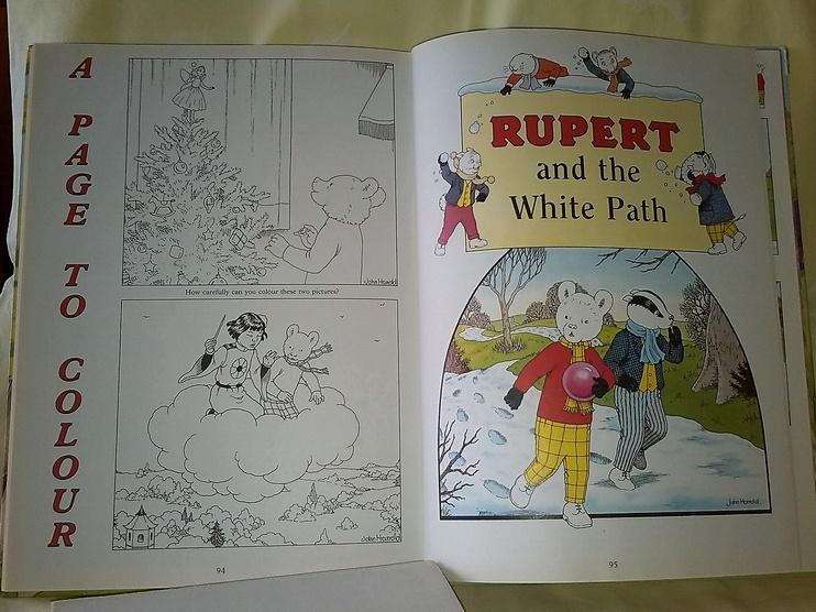 The Rupert Annual , aventures d'un ourson pour enfants, à colorier et en vente chez Zappandoo.