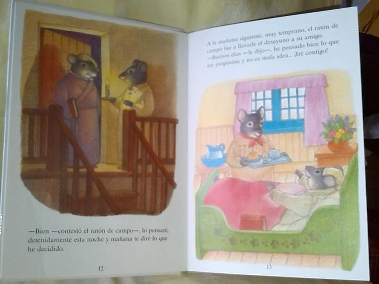 El Raton de ciudad y el Raton de Campo, livre pour enfants, en espagnol et en vente chez Zappandoo.