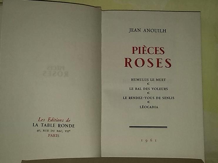 Pièces Roses, livre ancien et rare en vente chez Zapandoo..