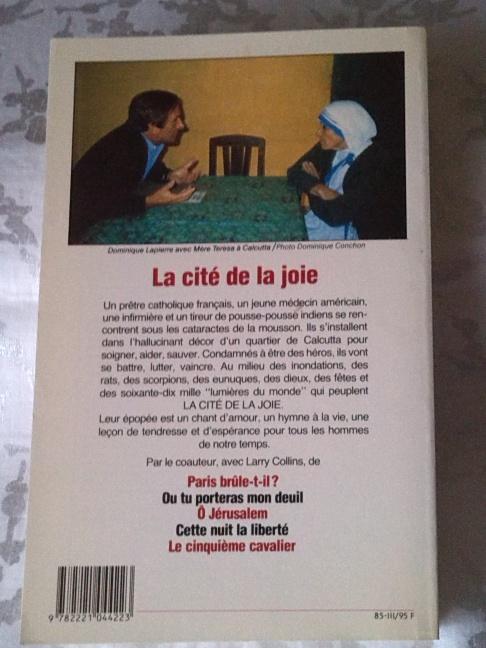 Chez zappandoo.comunidades.net, La Cité de la Joie, récit d'une aventure  humaine é Calcutta.