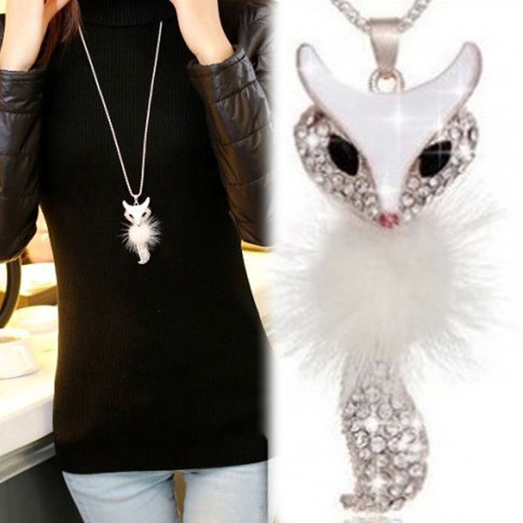 colliers pour femme, de la collection le renard, en vente chez zappandoo.