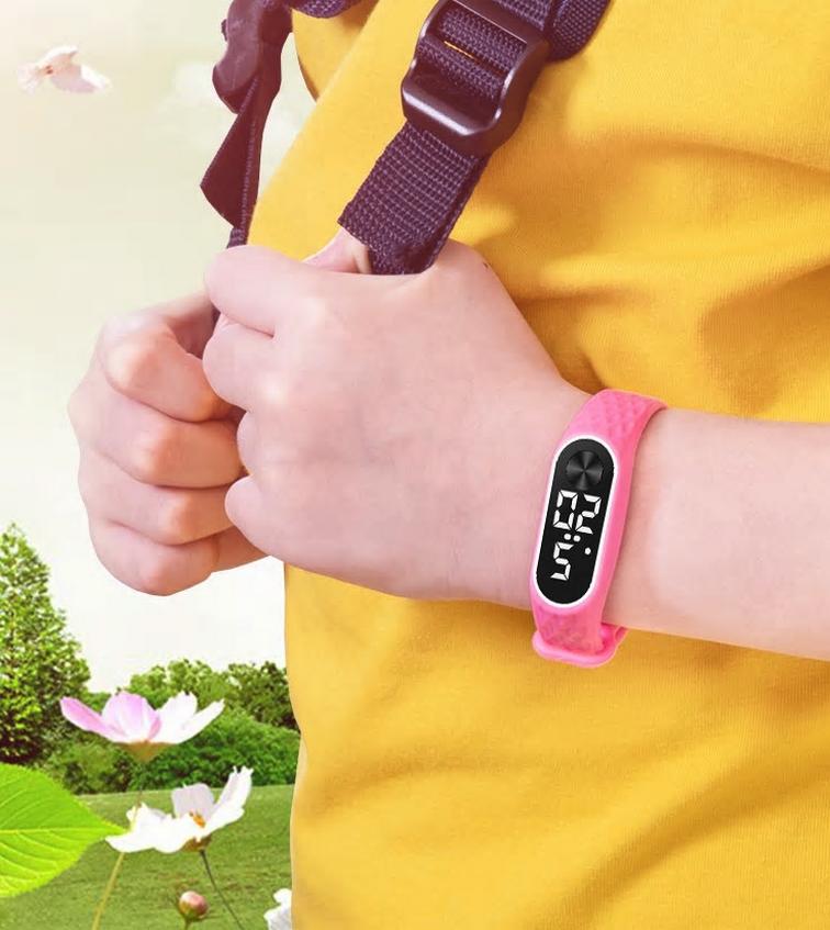Montre digitale et led pour enfants, unisexe, avec calendrier, en vente sur Zappandoo.